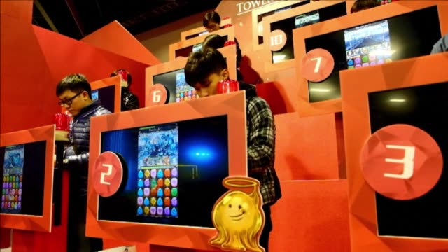 taipei game show opens with over 1,400 booths from 195 companies taking part between january 28 to february 1 - gioco televisivo video stock e b–roll