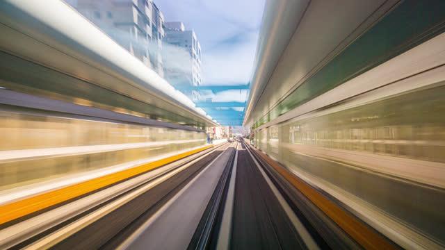 taipei hyperlapse view of the taipei metro moving through the tracks - chiang kaishek memorial hall stock videos & royalty-free footage