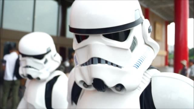 taipei marks annual star wars day with around 100 fans dressing up as the blockbuster film series characters - star wars film series stock videos & royalty-free footage