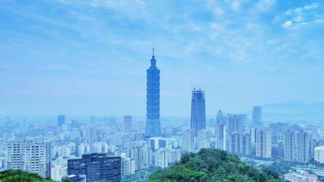 taipei skyline and taipei tower - taipei 101 stock videos & royalty-free footage