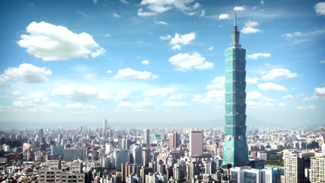 taipei skyline, taiwan - taipei stock videos & royalty-free footage
