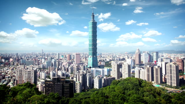taipei skyline, taiwan - taipei 101 stock videos and b-roll footage
