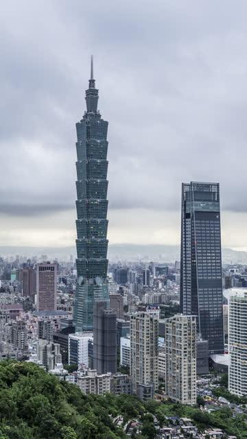 t/l taipei skyline - taipei 101 stock videos & royalty-free footage