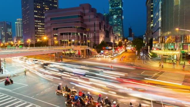 taipei world trade center and taipei 101 in xinyi business district - taipei 101 stock videos & royalty-free footage