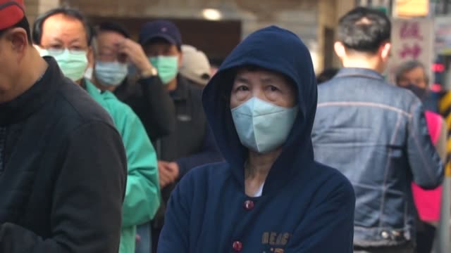 taiwan has implemented rationing for surgical face masks after the wuhan coronavirus caused acute shortages - taiwan video stock e b–roll