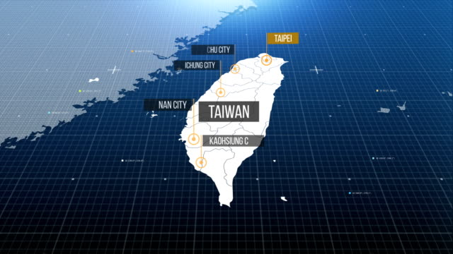 taiwan map with label then with out label - taiwanese flag stock videos & royalty-free footage