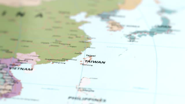 asia taiwan on world map - china east asia stock videos & royalty-free footage