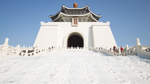 taiwan, taipei, chiang kai-shek memorial - time lapse - monument stock videos & royalty-free footage