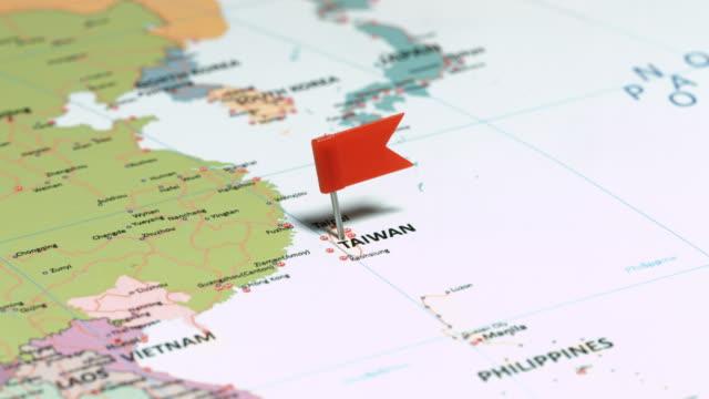 Taiwan, la République de Chine avec goupille