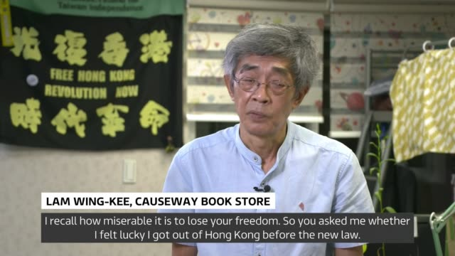 taiwan undertakes annual war games aid growing threat from china taiwan taipei overlaid*** lam wingkee setup shots in book shop and interview sot - war and conflict stock videos & royalty-free footage