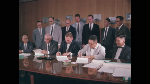 taiwanese and us businessmen sign agreement - taipei stock videos & royalty-free footage