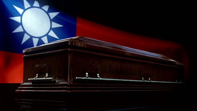taiwanese flag behind coffin - taiwanese flag stock videos & royalty-free footage