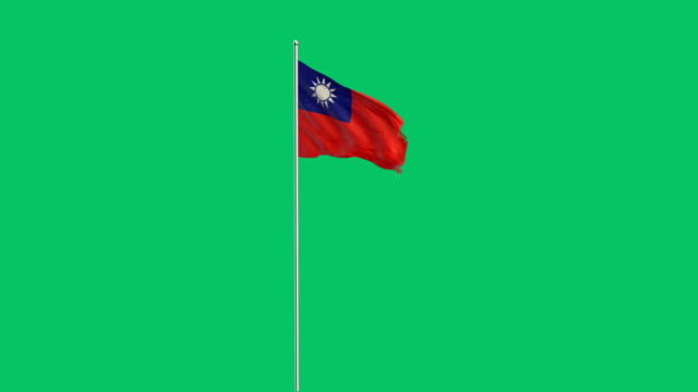 taiwanese flag rising - taiwanese flag stock videos & royalty-free footage