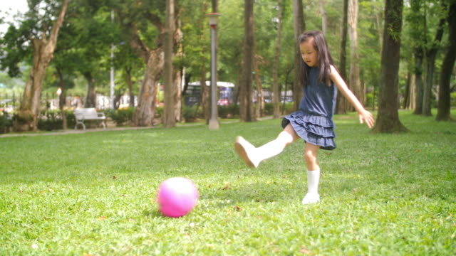 taiwanese girl playing soccer - taipei stock videos & royalty-free footage