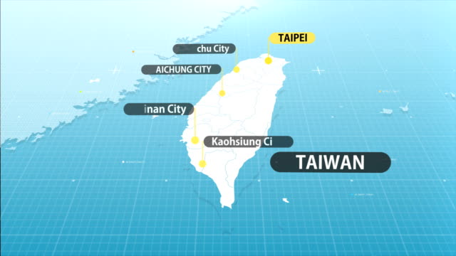 vidéos et rushes de carte taïwanais - taiwan