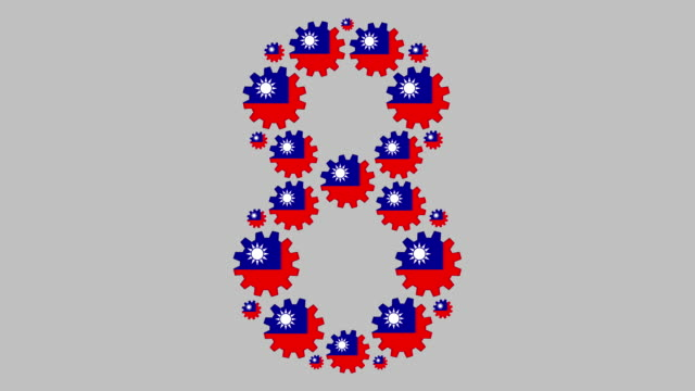 taiwanese number eight - taiwanese flag stock videos & royalty-free footage