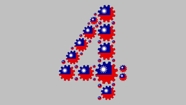 taiwanese number four - taiwanese flag stock videos & royalty-free footage
