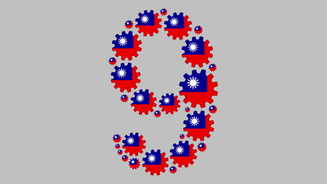 taiwanese number nine - taiwanese flag stock videos & royalty-free footage