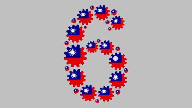 taiwanese number six - taiwanese flag stock videos & royalty-free footage