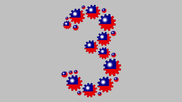 taiwanese number three - taiwanese flag stock videos & royalty-free footage