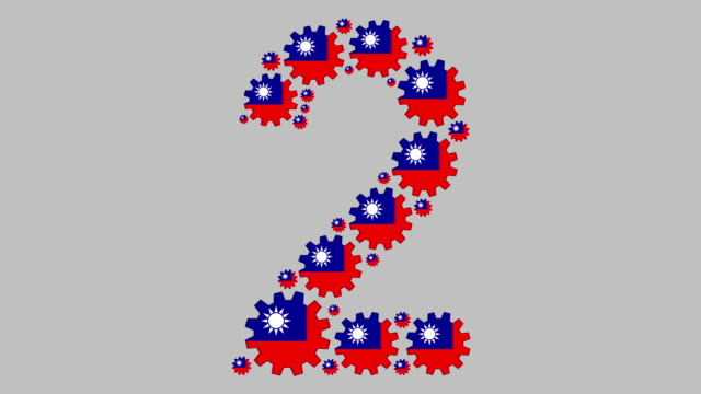 taiwanese number two - taiwanese flag stock videos & royalty-free footage