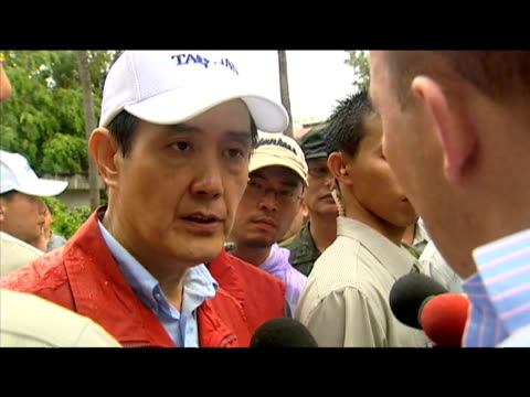 taiwanese president ma yingjeou comments on efforts made to rescue victims of typhoon morakot taiwan 12 august 2009 - taiwan stock videos & royalty-free footage