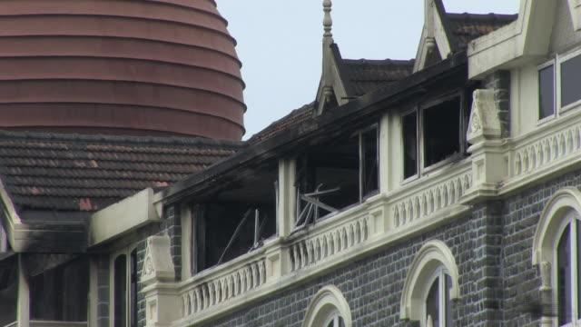 taj hotel following terror attacks mumbai india - terrorism stock videos & royalty-free footage