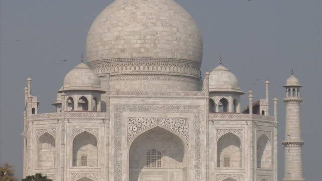 cu, zo, ws, taj mahal, agra, uttar pradesh, india - taj mahal stock videos and b-roll footage