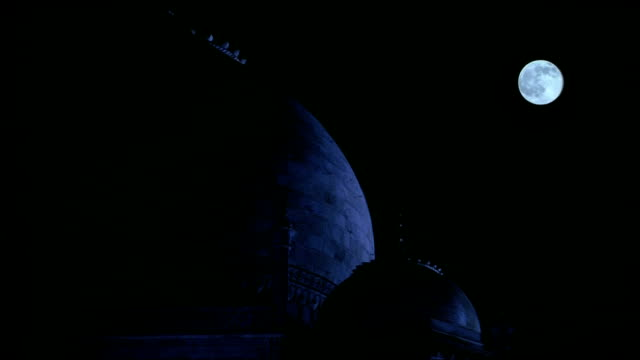 taj mahal bathed in moonlight, agra - taj mahal stock videos and b-roll footage