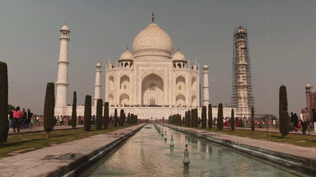 taj mahal counts 3 million visitors each year most of them coming from india - taj mahal stock videos and b-roll footage