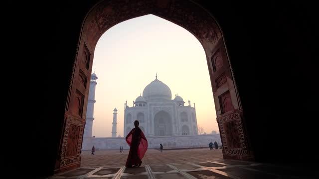 taj mahal dream - mosque stock videos & royalty-free footage