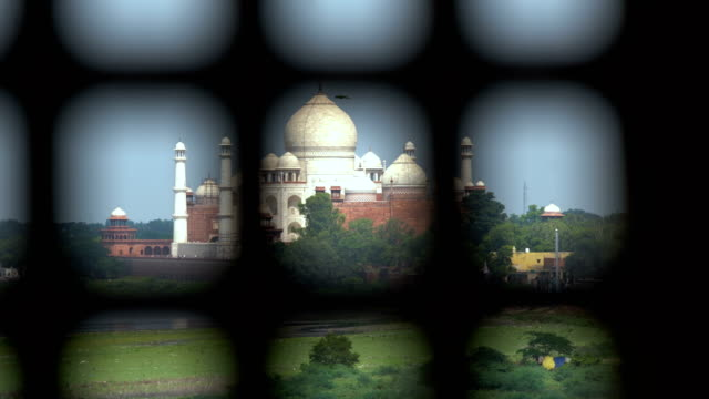 Taj Mahal from Agra fort,Jamuna river, Agra, India