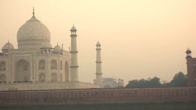 taj mahal in agra, india - mausoleum stock videos and b-roll footage