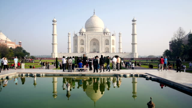 taj mahal in agra - taj mahal stock videos and b-roll footage