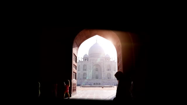 montage: taj mahal in india - twilight stock videos & royalty-free footage