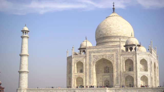 taj mahal main gate - agra stock videos and b-roll footage