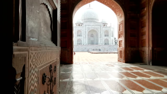 taj mahal monument, agra, india - temple building stock videos & royalty-free footage