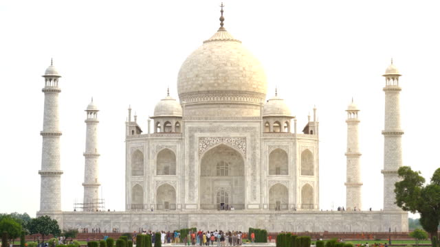 taj mahal monument in agra, india - palace stock videos & royalty-free footage