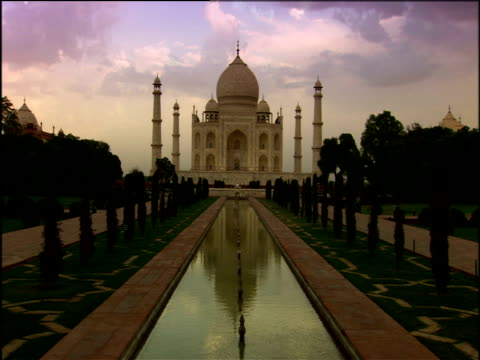Taj Mahal under a cloudy sky Agra