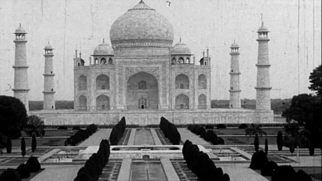 1925 - taj mahal - famous place stock videos & royalty-free footage