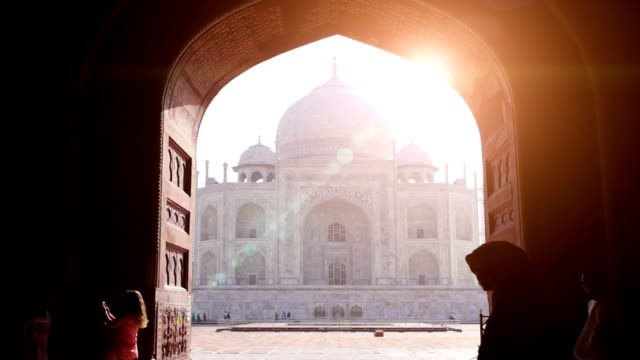 taj mahal-india - india video stock e b–roll