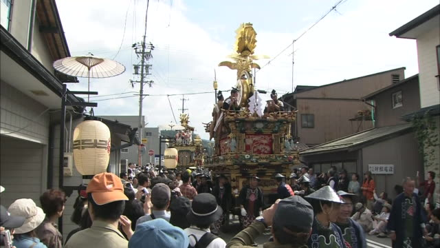 takayama fall festival - kagura stock videos & royalty-free footage