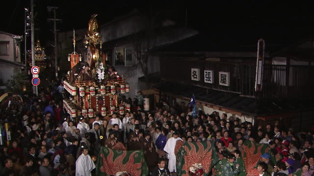 takayama spring festival - kagura stock videos & royalty-free footage