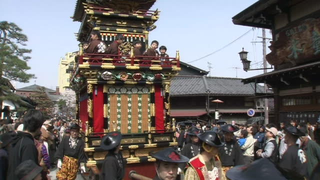 takayama spring festival - festival float stock videos & royalty-free footage