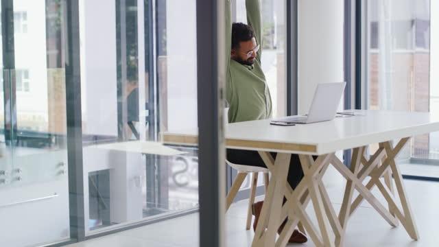 take a break before you burnout - desk stock videos & royalty-free footage