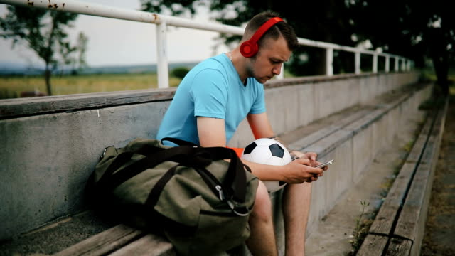 take a little rest - soccer player stock videos & royalty-free footage