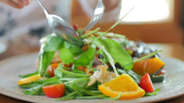 take a salad , healthy food - vegan food stock videos & royalty-free footage