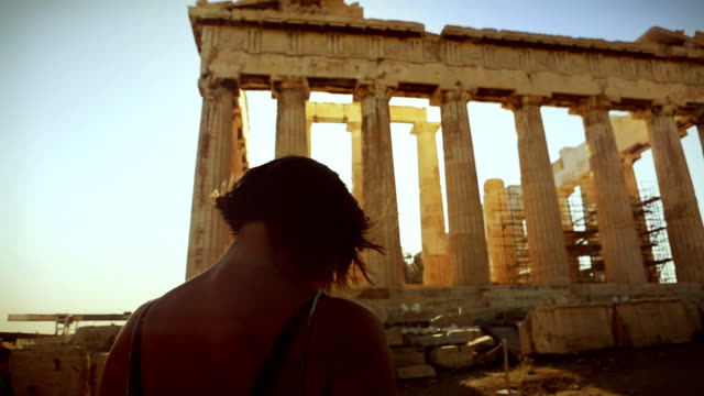 take a shot to the parthenon - athens greece stock videos & royalty-free footage