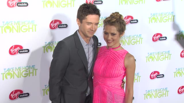 take me home tonight premiere los angeles ca united states 3/2/11 - topher grace stock videos and b-roll footage
