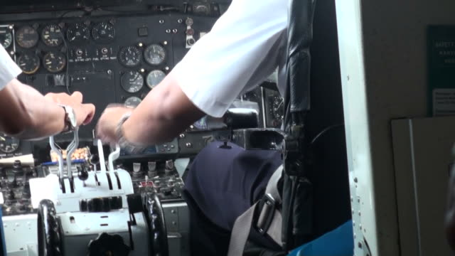 take off in turbulent weather from the cockpit - captain stock videos and b-roll footage